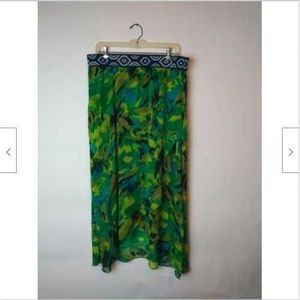 New Direction's Watercolor Faux Wrap Maxi Skirt